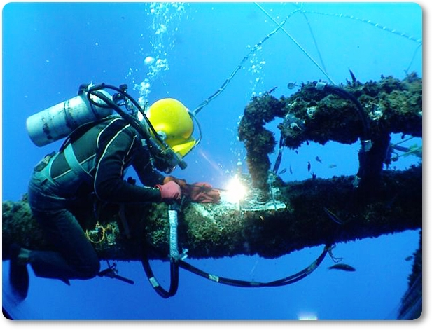 Underwater welder http www weldingtipsandtricks com list of underwater